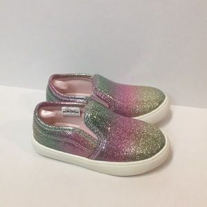 Youth Girl Carter's Glitter slip on shoes size 7